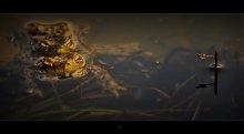 Spring Ekebana with a frog ... :) /