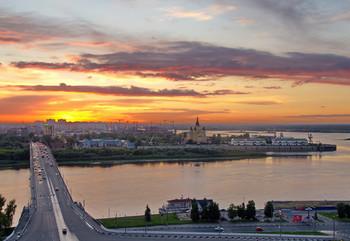 Sunset in Nizhny Novgorod / ***