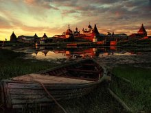 sunset Solovki / ***
