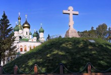 Mass grave of Russian soldiers died in the Battle of Poltava / ***
