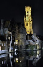 """Bruges / The old city of Bruges near the Belgian coast is called the """" Venice of the North """" because of its canals."""