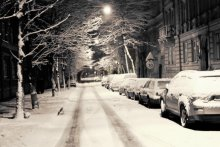 And the street was covered with snow / ***