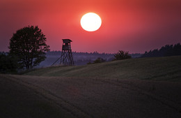 The end of the day... / The end of a hot summer day... Picture taken near Polish - Russian border (Kaliningrad) not far from Goldap.