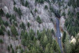 Pas de Peyrol / The mountain pass of 'Pas de Peyrol' in the Cantal / France