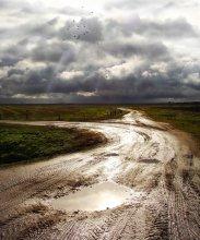 Crossroads. Fingerprinting autumn roads. / ***