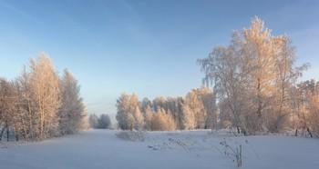 Winter evening. / ***