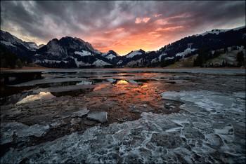 crushed ice / Schwarzsee, Fribourg, Schweiz